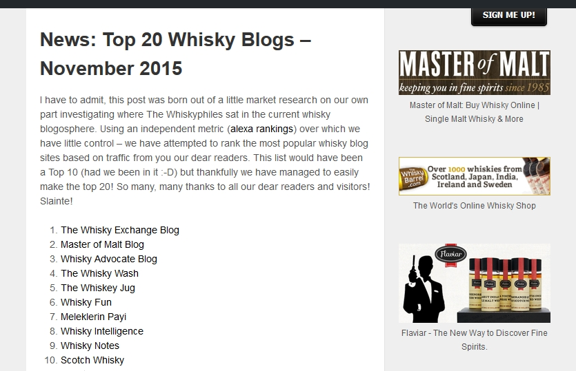 top20 whisky bloggers